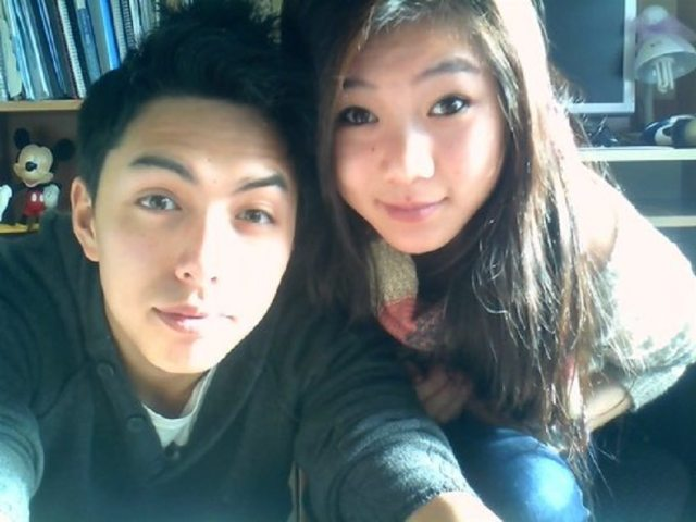 Dannie Riel with clever, Boyfriend Ken Nguyen