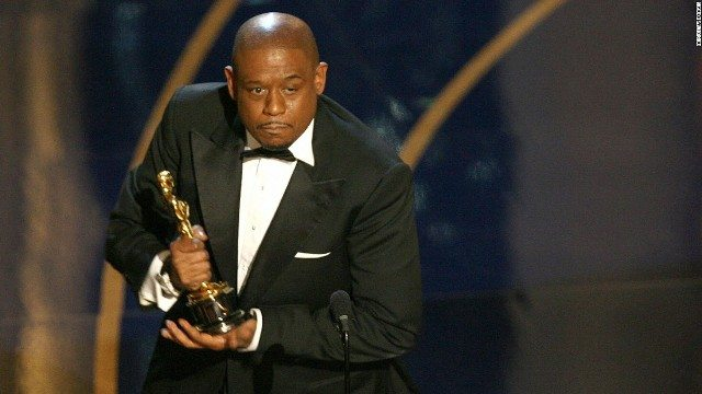 Forest Whitaker accepts the Academy Award for Best Actor at the 2007 Oscars