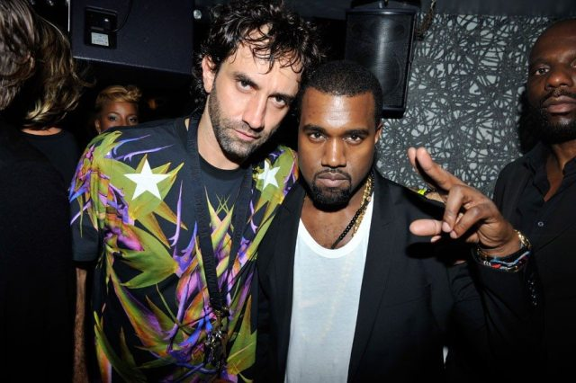 Kanye West and Riccardo Tisci