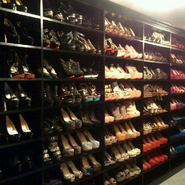 Kim Kardashians Shoe Collection Kims Closet Via Dressdishdwell