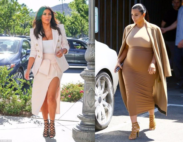 Kim Kardashian strappy sandals