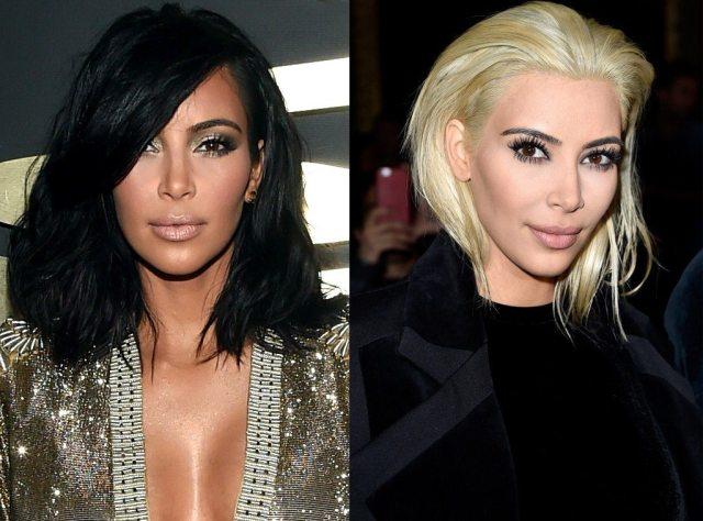 Kim hair color