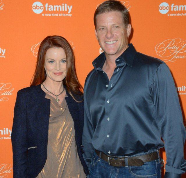 Laura Leighton and husband Doug Savant