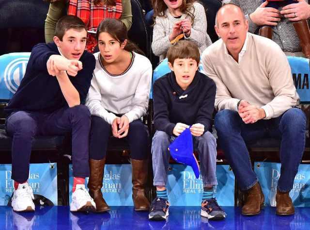 Matt Lauer and his Kids