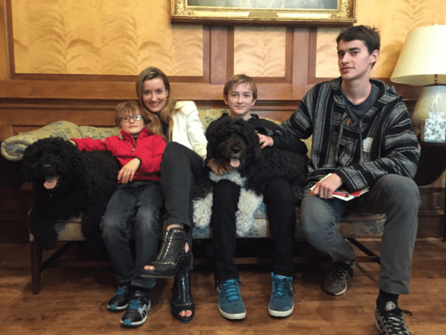 Natascha McElhone and kids