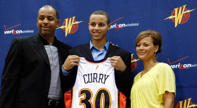 Stephen Curry's brother parentts