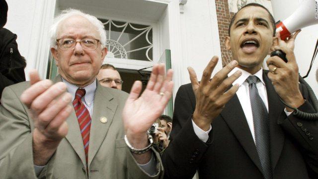 bernie and obama