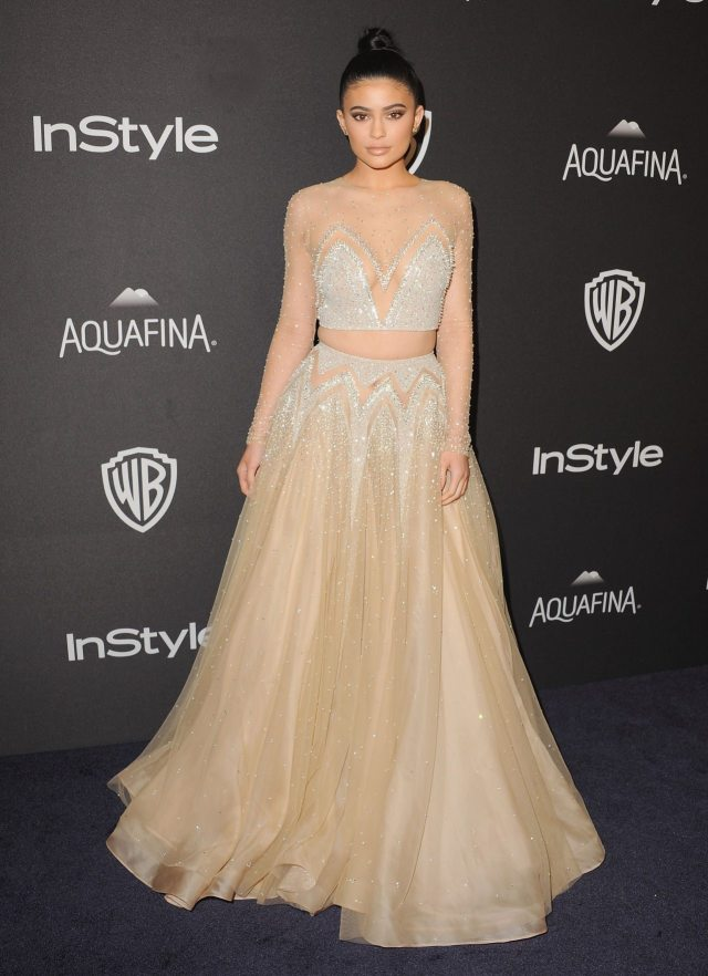 Kylie Jenner's outfit golden