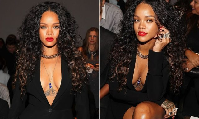 Rihanna's tattoos on chest