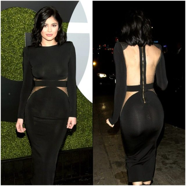 Kylie Jenner's out fit split balmain