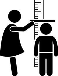 measure child's height