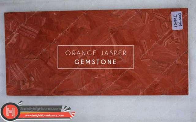 Orange Jasper Gemstone Tiles Slabs Surface