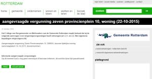 aangevraagde vergunning zeven provincienplein 10, woning (22-10-2015)