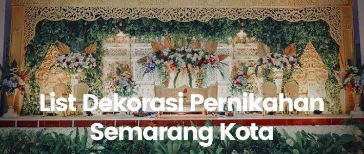Daftar Dekorasi Semarang