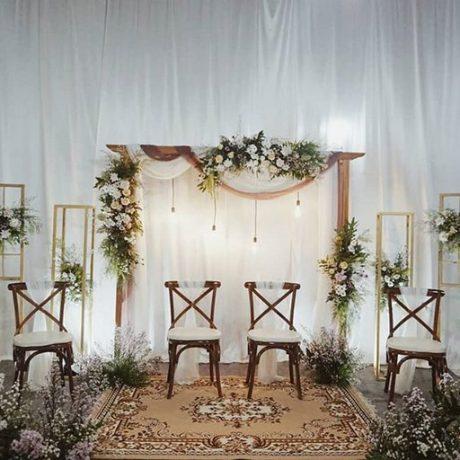 dekorasi rustic pernikahan madiun