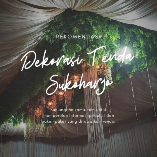 Dekorasi Tenda Tarub Sukoharjo