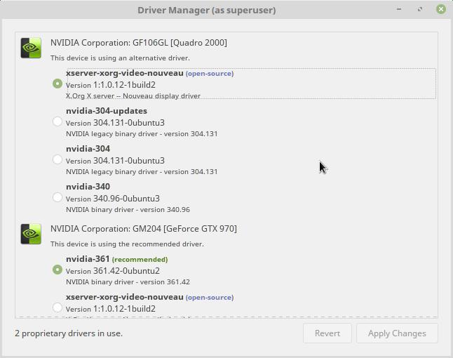 geforce gtx 970 driver linux