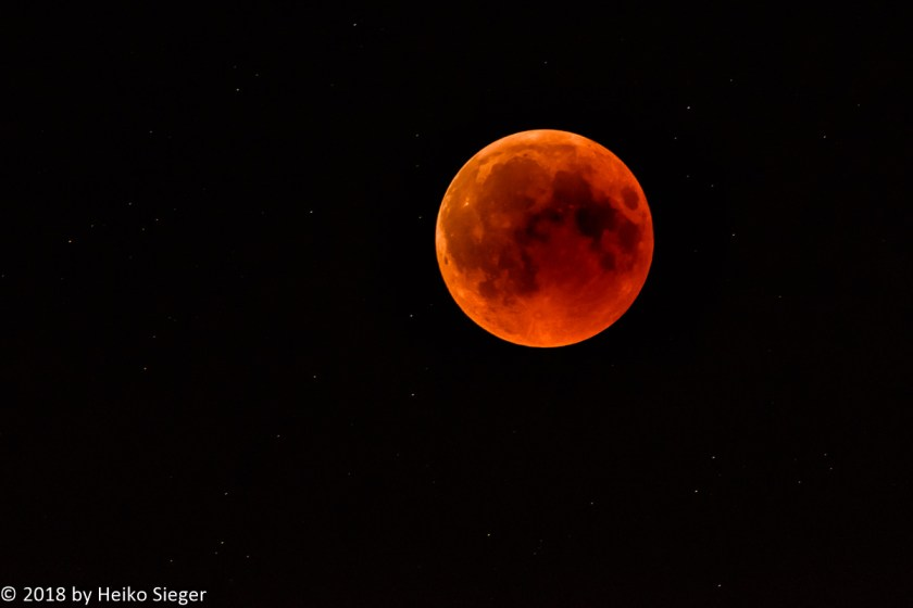 Lunar eclipse as seen in Jerusalem