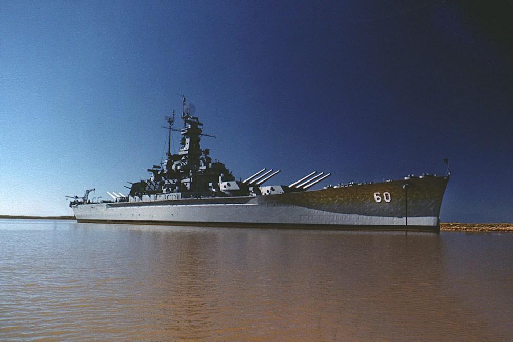 Alabama as a museum ship in Mobile Bay, Alabama, 1985 (1/2)