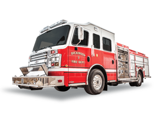 Heiman Fire Rosenbauer Pumper for Dickinson, North Dakota
