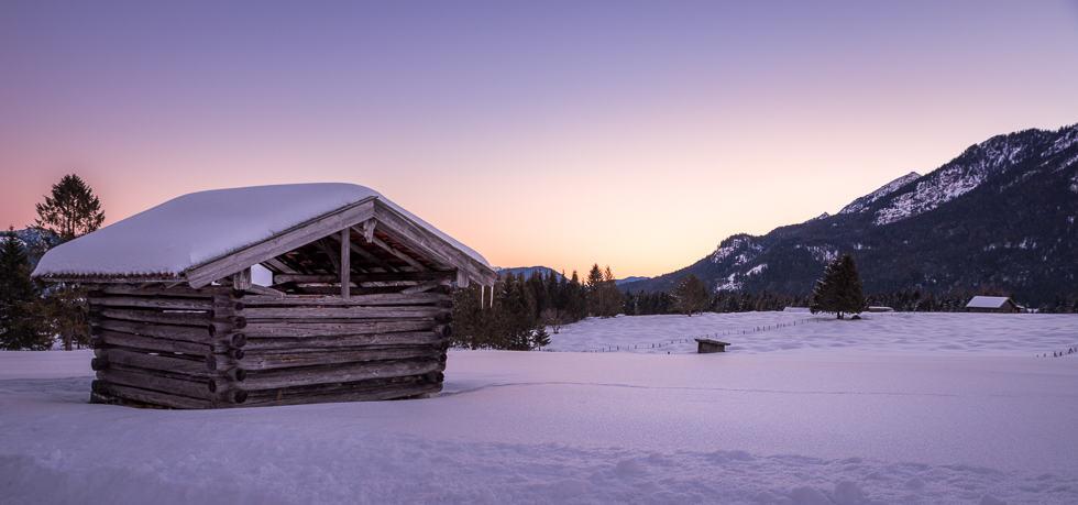 Mittenwalder Buckelwiesen im Winter