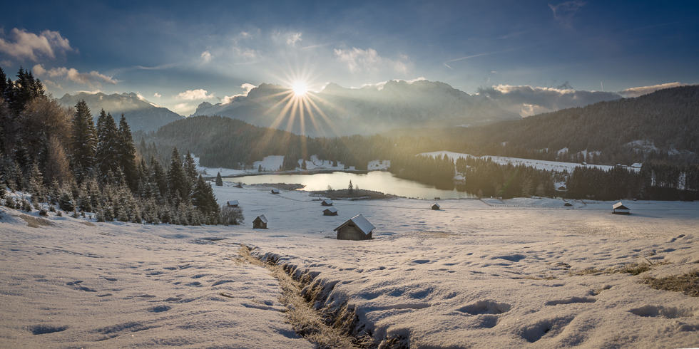 cold morning lake Geroldsee