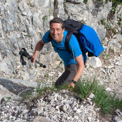 Manfred im Klettersteig