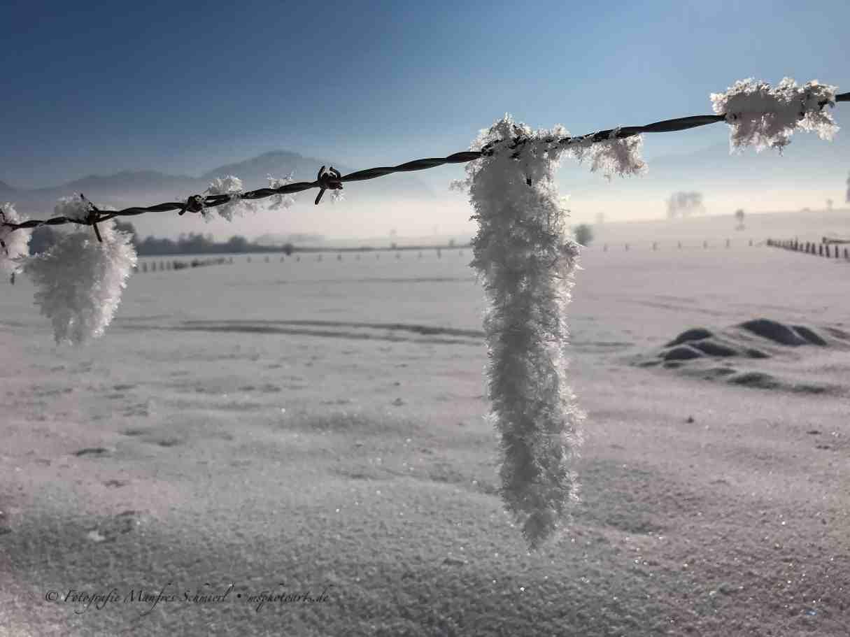 Schneekristalzapfen bei Großweil