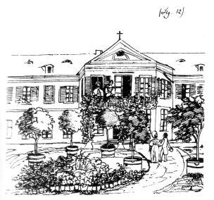 1827 Horchheim Mendelssohn Palais Bleistiftzeichnung
