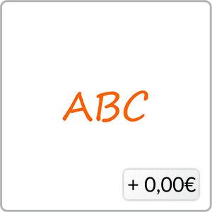 Schriftfarbe orange