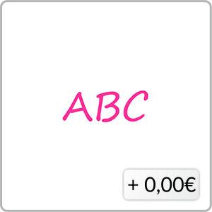 Schriftfarbe pink