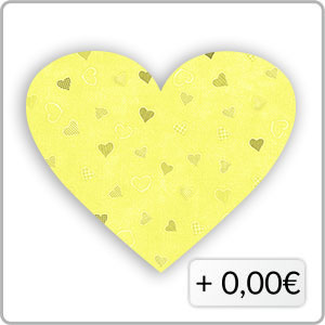 Herzen gelb
