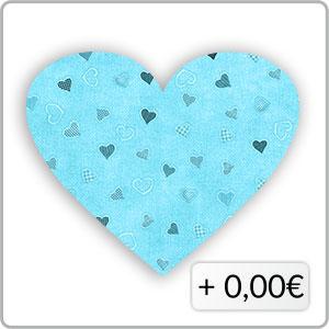 Herzen hellblau