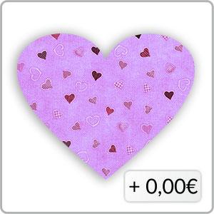 Herzen lila