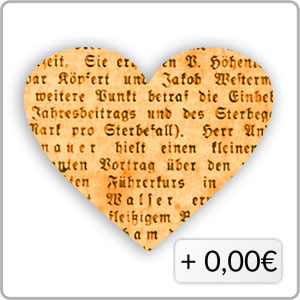 Schrift orange