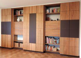 Wohnzimmerschrank aus massiver Eiche   Schreinerei Wohlschiess