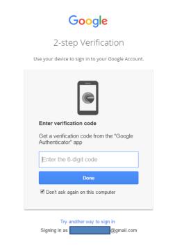 Gmail - login - enter verification code