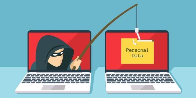 hacker fishing personal data