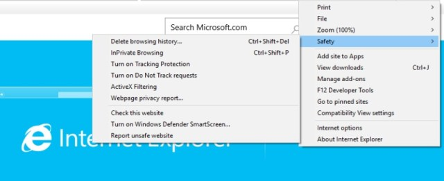Internet explorer security settings browser security
