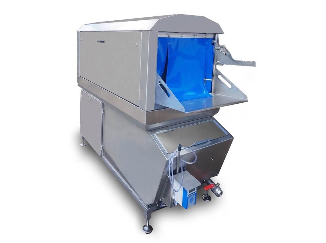 Waschanlage mit integrierter Trocknung fürEimer