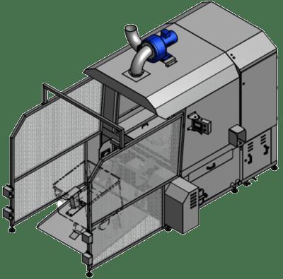 Kutterwagen Waschanlage im Einsatz