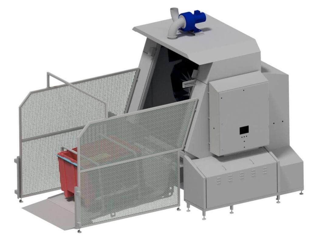 Behälterwaschanlage im Einsatz