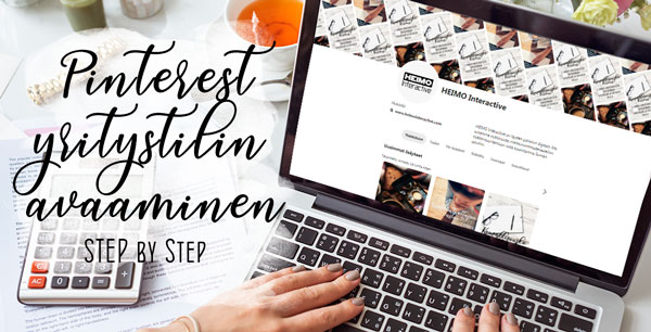 Pinterest yritystilin avaaminen Step by Step