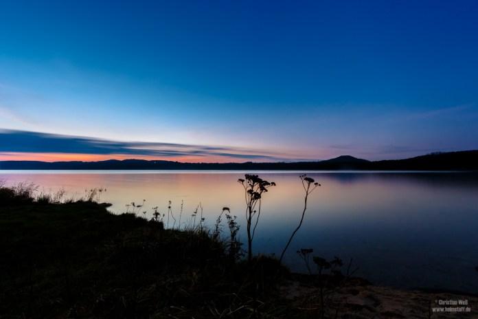 Blaue Stunde am Berzdorfer See.