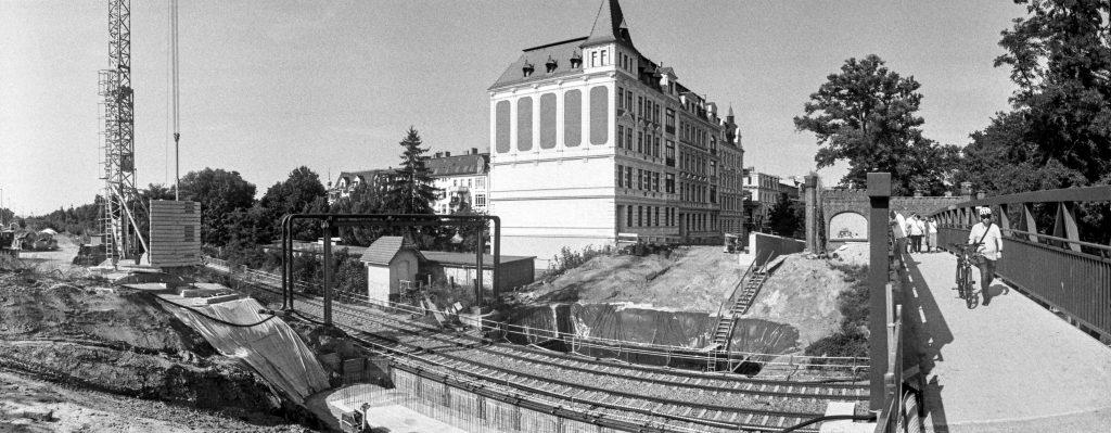 """An der """"Blockhausbrücke""""."""