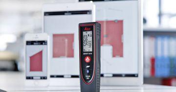 Leica Lasermessgerät mit Tablett APP