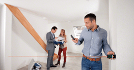 Wohnflächenberechnung mit Lasermessgerät