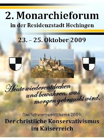 Monarchieforum in Hechingen