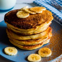 Bill Granger's Banana Sour Cream Hotcakes