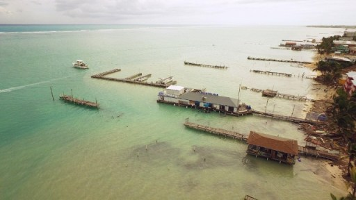 Devastation of piers & docks on the shores of Ambergris Caye!